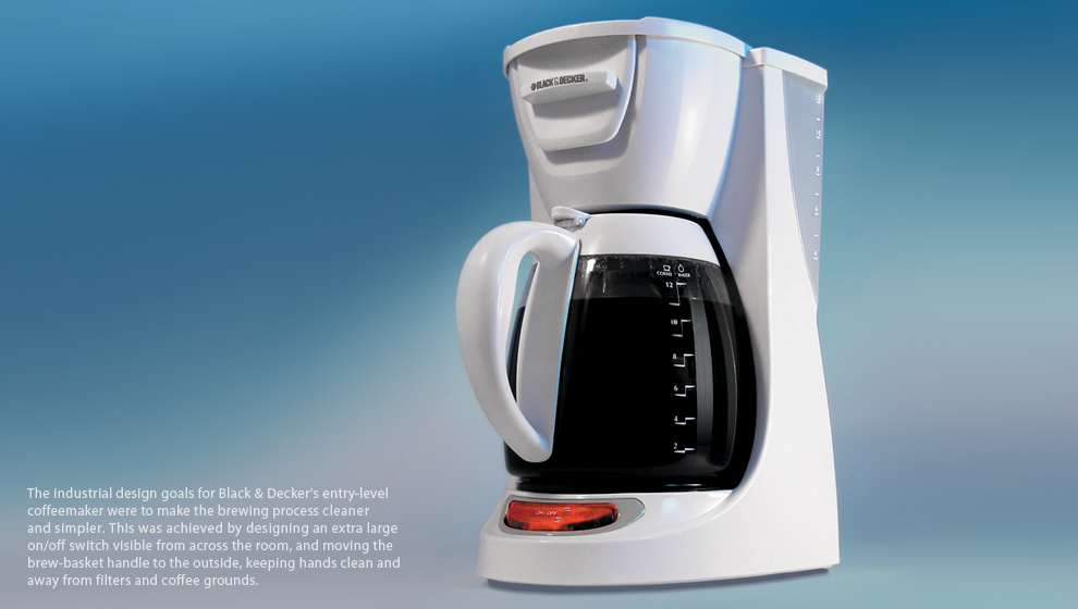 production picture of Black and Decker coffeemaker
